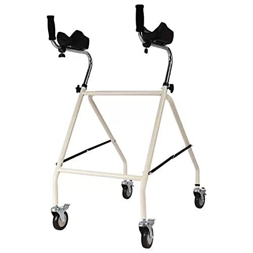 Walker plegable con soporte de brazos axilares, altura ajustable, caminante vertical, para personas mayores discapacitadas, fuera de interior