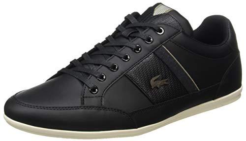 Lacoste Herren Chaymon 319 1 CMA Sneaker, Schwarz (Black/Khaki 2h5), 42 EU