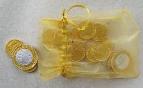 Trader Joe's Chocolate Coins of the World Holiday Christmas Hanukkah Gift Bag