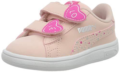 PUMA Baby Mädchen Smash V2 Cndy V Inf Sneaker, Pink (Peachskin-Peachskin), 22 EU