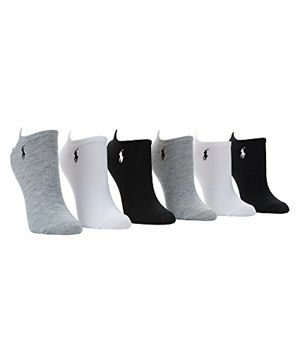 Low-Cut Sport Flat Knit Ped-Calcetines 6-Pack, Variados