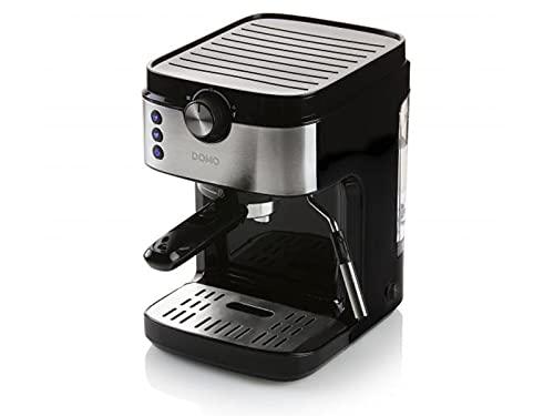 Domo DO711K Espressomaschine mit Siebträger Schwarz, Edelstahl 1450W