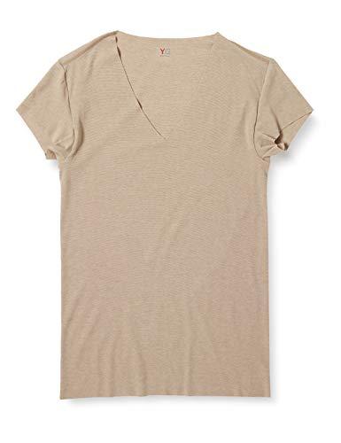 [グンゼ] インナー YG 清涼CUT OFFシリーズ VネックTシャツ 脇パッド付 短袖深V YV1912 メンズ クリアーベージュ 日本 M (日本サイズM相当)