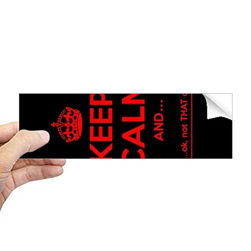 DIYthinker Quote Keep Calm Rood Zwart Rechthoek Bumper Sticker Notebook Window Decal