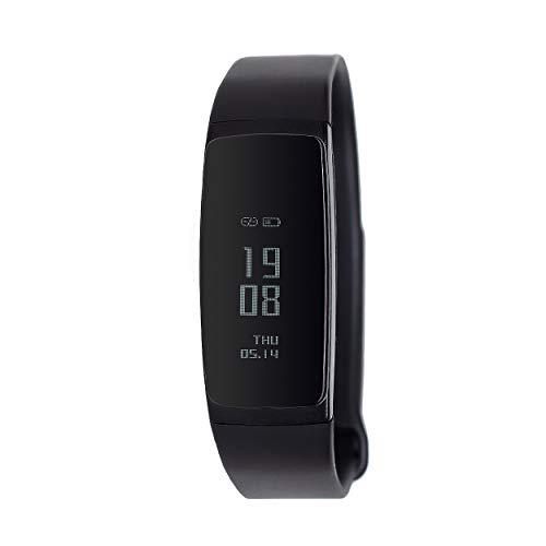 ETCBUYS Fitness-Tracker – Smart-Watch-Aktivitätstracker, wasserdicht mit Blutdruckmessgerät, Schrittzähler, Sitzerinnerung, Herzfrequenz, Sportarmband für Android und iOS, Schwarz