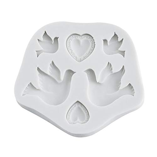 gfjfghfjfh Pace Colomba Stampo in Silicone Stampo in Silicone Stampo in Silicone Strumenti antiaderenti Stampo per Torta in Silicone Stampo per Gelatina e Caramelle