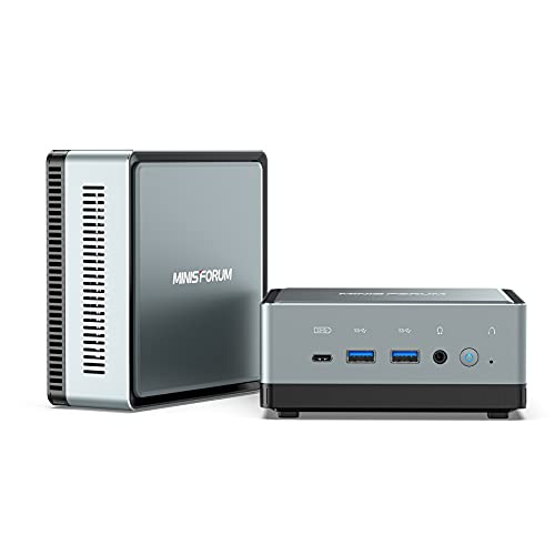 Mini PC Intel Core i5-10210U | 16 Go de RAM SSD PCie de 256 Go | Graphiques Intel UHD | Windows 10 Professionnel | M.2 2230 WiFi BT 5.1 | HDMI/DP/USB-C | 2X RJ45 | 4X USB 3.0 | Petit Facteur de Forme