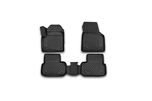Element EXP.NLC.3D.28.17.210 3D Passgenaue Premium Antirutsch Gummimatten Fußmatten Land Rover Discovery Sport I L550 2014-2019, Schwarz, Passform