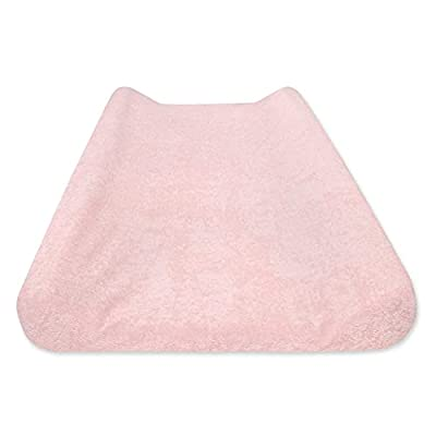 """Burt's Bees Baby - Changing Pad Cover, Super Absorbent Terrycloth Knit, 100% Organic Cotton Liner for Standard 16"""" x 32"""" Mats (Blossom Pink)"""