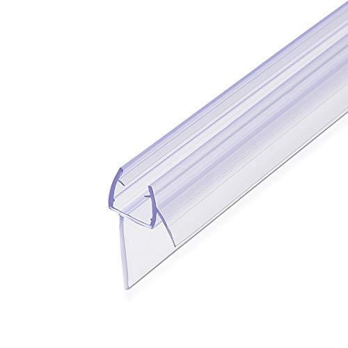 Navaris Schwallschutz Duschdichtung Duschkabine 45° versetzt - für 8mm Glas Duschtür - Dichtung Glastür Dusche - Ersatzdichtung Glasdusche 100cm