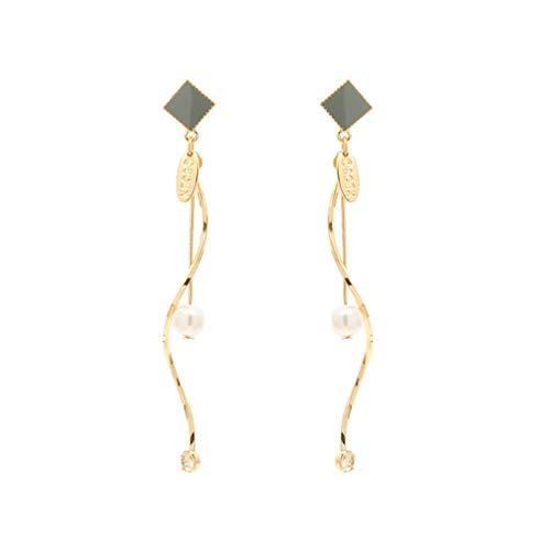 Pendientes de oro para mujer, pendientes Morandi, pendientes de perlas con espiral, pendientes de borla y pendientes colgantes para mamá, hermana y niñas