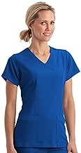 Jockey Women's Scrubs Women's Mock Wrap Scrub Top, Royal Blue, s