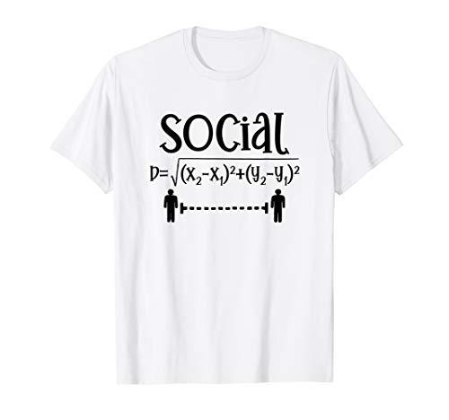Social Distancing Math Teacher Quarantined Math Teacher T-Shirt