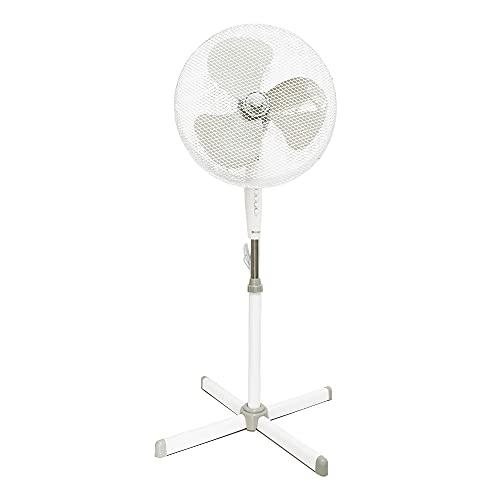 TIENDA EURASIA® Ventilador de Pie 45W - 3 Velocidades - Oscilación 90º - Inclinación 10º - Ø430 x 1250 mm (Ventilador de Pie)