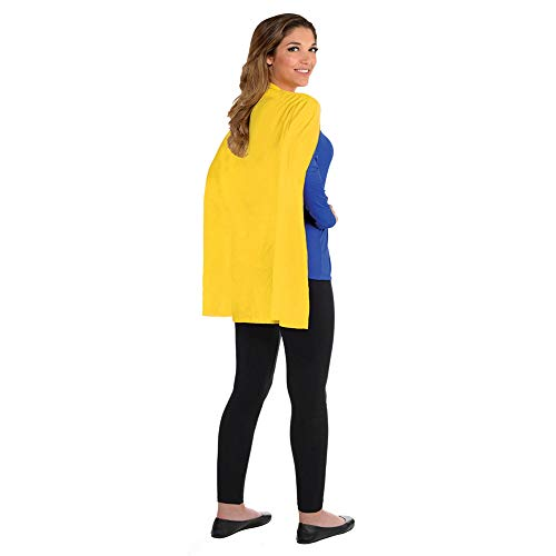 Amscan Solid Color Super Hero Costume 30″ Cape, Yellow