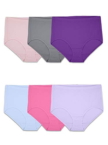 Fruit of the Loom - Ropa Interior Transpirable para Mujer, Cotton Mesh - Brief (6 Pack), XXX-Large (10)