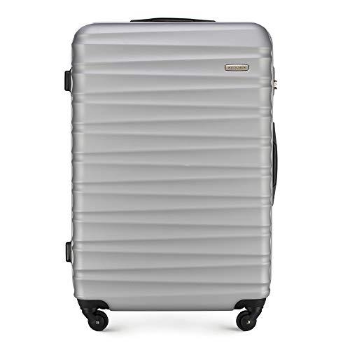 WITTCHEN Koffer – Großer | hartschalen, Material: ABS | hochwertiger und Stabiler | Grau | 96 L | 77x29x52 cm