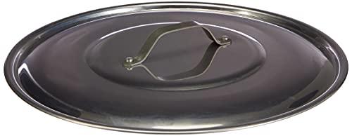 Pentole Agnelli PCMX02932 Coperchio con Ponticello in Acciaio, Alluminio Lucido, 32 cm