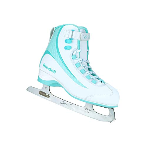 Riedell Skates - Soar Adult Ice Skates- Recreational Soft Beginner Figure Ice Skates | Mint | Size 4