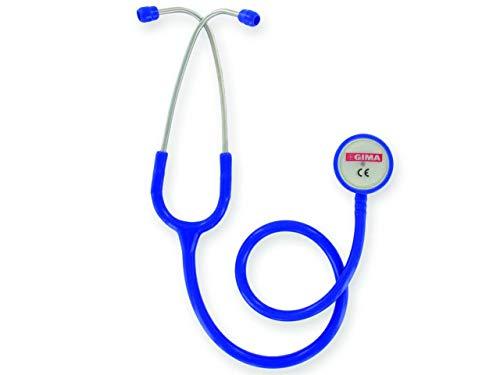 GIMA - Classic Doppelkopf-Stethoskop, Königsblauer Schlauch, Littmann-Stethoskop, Erwachsene, Berufsstethoskop