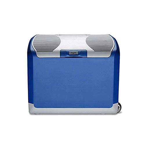 Koelkast auto, Portable Cool Box Mini koelkast 12v 220v, Cooler Warmer Outdoor Travel 40 Liter (Kleur: Zwart, Maat: B) LOLDF1 (Color : Silver Blue, Size : A)