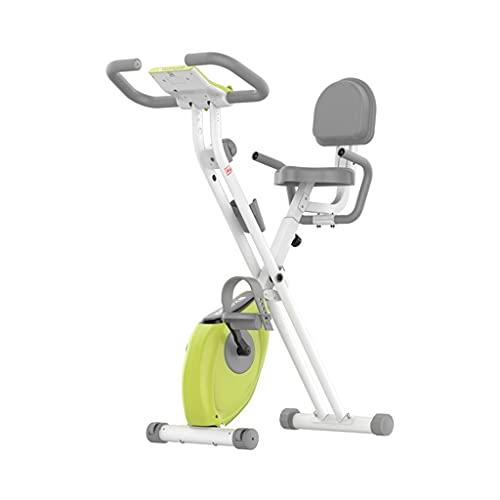 Bicicleta Estática Plegable Entrenador De Piernas Avanzado Ejercicio De Cuerpo Completo Pantalla LCD 8 Niveles De Resistencia 150 Kg De Capacidad De Carga (Color : Green, Size : 68 * 45 * 115cm)