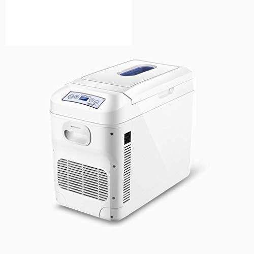 Ice Auto Kühlschrank Gefrierschrank Erwärmung Kühlbox Horizontal/Vertikal Dual-Use 12V220V Mini Kleiner Kühlschrank Auto nach Hause mit Riemenscheibe für Reisen Camping Picknick Weiß