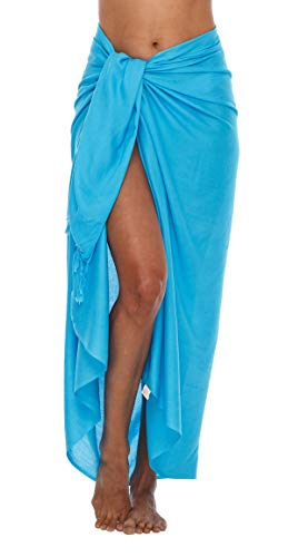 Shu-Shi Womens Beach Cover Up Sarong Swimsuit Cover-Up, Turquoise, One Size