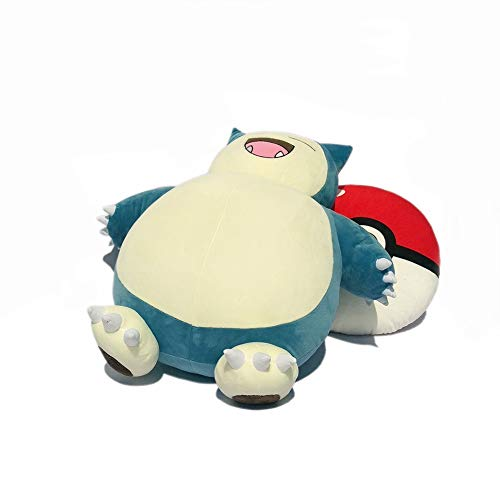 WZNING Capbie Doll Pluche Soothing Toy knuffeldier Pluche Dolls Cartoon Pluche Doll Met Hoofdkussen Oversized Ball Pokémon pluche pop for Boy Girl Birthday Holiday Gift (Color : B, Size : 55cm)