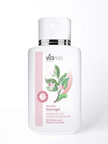VICOPURA Duschgel, basisch pH 7, 4, basische Reinigung für den Körper, ohne Konservierungsmittel, 250 ml
