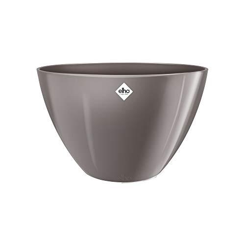 Elho Brussels Diamond Ovale Haut 36 - Pot De Fleurs - Oyster Pearl - Intérieur - Ø 35.9 x H 23.5 cm
