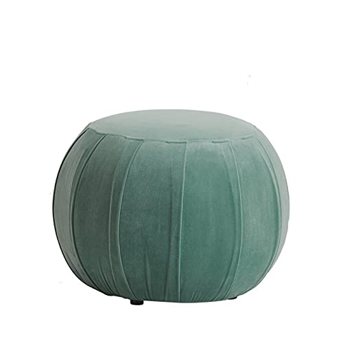 HHOSBFSS Sgabelli per La Casa, Piccoli Sgabelli alla Moda E Creativi, Panchine per La Casa, Sgabelli di Divano per Soggiorno in Tessuto, Sgabelli Rotondi (Color : Sage Green)
