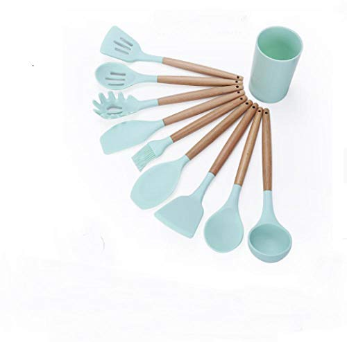 Utensilios Cocina Silicona,Juego de utensilios de cocina de silicona, utensilios de cocina con caja de almacenamiento, utensilios de cocina antiadherentes resistentes al calor, herramientas para horn