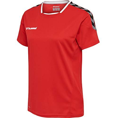 hummel Damen Authentic Poly Jersey Damen S/S Trikot, True Red, XL