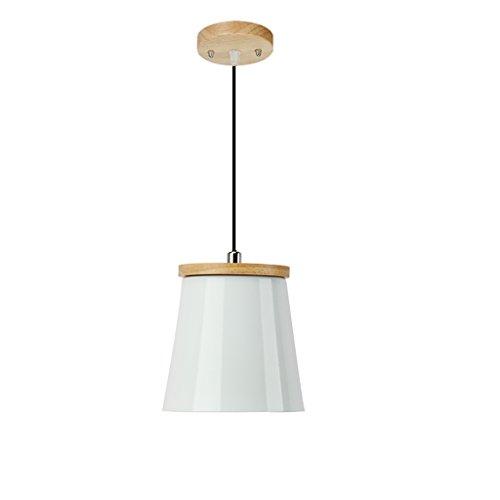 Lustre loft rétro industrielle coquille de vent ombre moderne minimaliste restaurant tête simple petit lustre couleur simple pendentif lampe (sans source lumineuse) (Couleur : E)