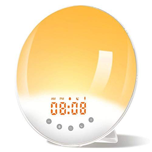 WQTT Wekker Wakker Licht Met Zonsopgang/Zonsondergang Simulatie Dubbele Alarmen Snooze-functie FM-radio Nachtlampje Naast Het Bed