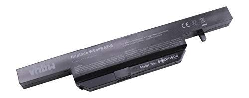 vhbw Akku für Clevo W650, W650S, W650SC, W650SH, W650SJ, W650SR, W650SZ, W670SJQ Laptop Notebook wie W650BAT-6 - (Li-Ion, 4400mAh, 11.1V, 48.84Wh)