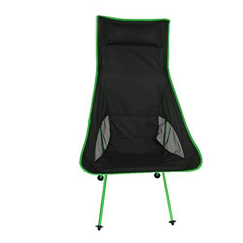 MOKA OUTDOOR Tragbarer Camping Klappstuhl, ultraleichter Rucksack mit Tragetasche, geeignet für Outdoor, Camping, Angeln, Strand, Multi-Color,Green