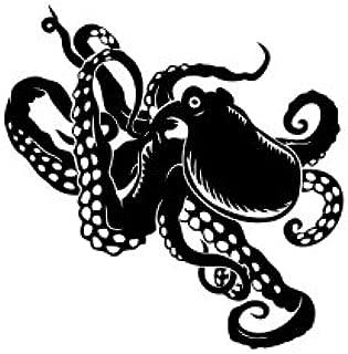 Cute Kraken Vinyl Decal Sticker (Black)