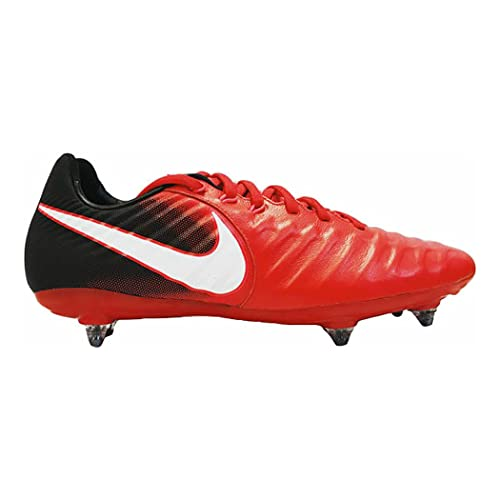 NIKE Tiempo Legacy III SG Uomos Football Boots 897798 Soccer Cleats (UK 7.5 US 8.5 EU 42, University Red Black White 610)