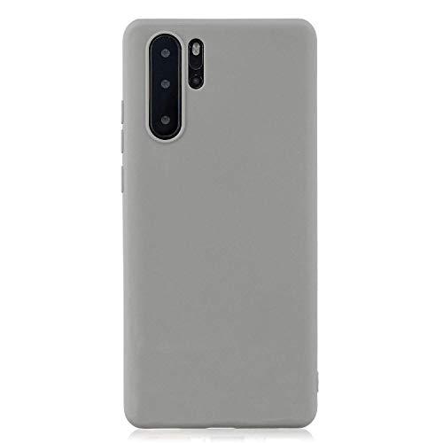 cuzz Custodia Huawei P30 PRO+{Film di Vetro temperato}Silicone TPU Cover Morbida Protettiva Custodia Ultra Sottile Leggero Cover-Grigio