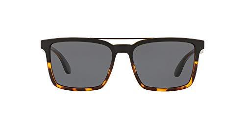 Native Eyewear unisex adult Four Corners Sunglasses, Matte Black/Tortoise/Gray, 56 mm US