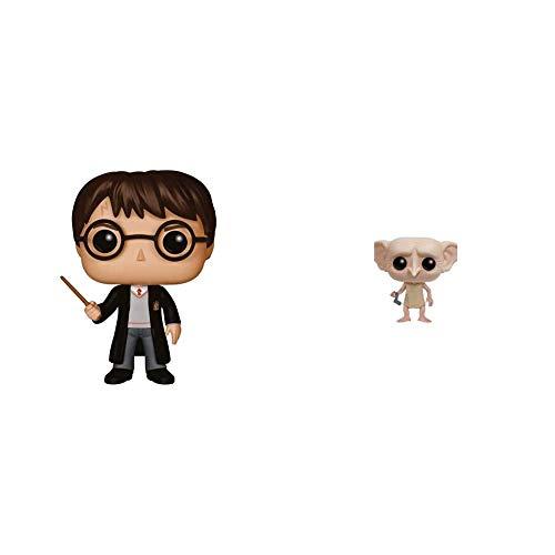 Funko Pop Vinilo Colección Harry Potter Figura Harry Potter (5858) Multicolor, One Size + Pop Vinilo Colección Harry Potter Figura Dobby (6561)