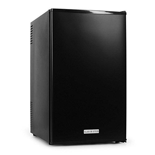 Klarstein MKS-9 Minibar Mini-Kühlschrank mit 66 Liter Volumen, Black Edition, Energieeffizienzklasse A, 30 dB leise, kompakt, 3-stufiger Temperaturregler, schwarz