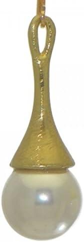 JOLANDA gold tone faux pearl clip on earrings