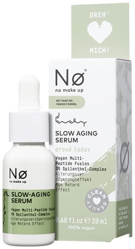 Nø proud today Slow Aging Serum – Anti Aging parfumfreies Gesichtsserum gegen Hautalterung und Mimikfältchen – Spilanthox, Spilanthol, 20 ml