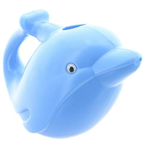 MIK Funshopping Gießkanne aus Kunststoff im lustigen Tier-Design, Volumen 1,5 Liter (Delfin blau)