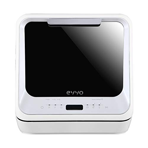 EVVO Lavavajillas Mini D Trip - Pequeño tamaño, Portátil, Sin instalación, 2 Cubiertos, 6 programas