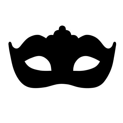 Moderne Mascarade Masque Stickers Muraux Tête De Lit Décoratif Noir Vinyle Auto-Adhésif Art Chambre Sticker 70Cmx44Cm