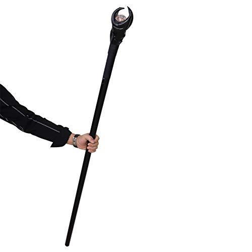 ETbotu verjaardagscadeau, Anime Maleficent Cosplay heksenstaaf toverstaf LED wandelstok voor carnaval Halloween